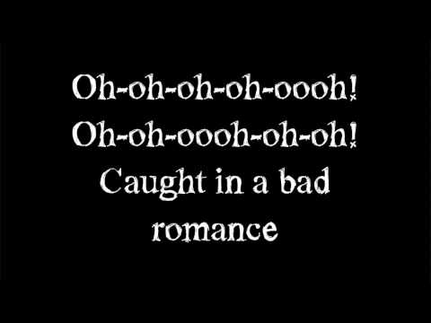 lady gaga - Bad Romance - Lyrics on screen