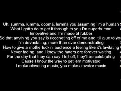 Rap God Eminem slow version lyrics